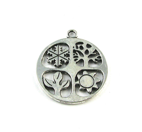 Four Seasons Antique Silver Charm