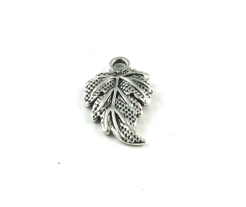 Beech Leaf Antique Silver Charm