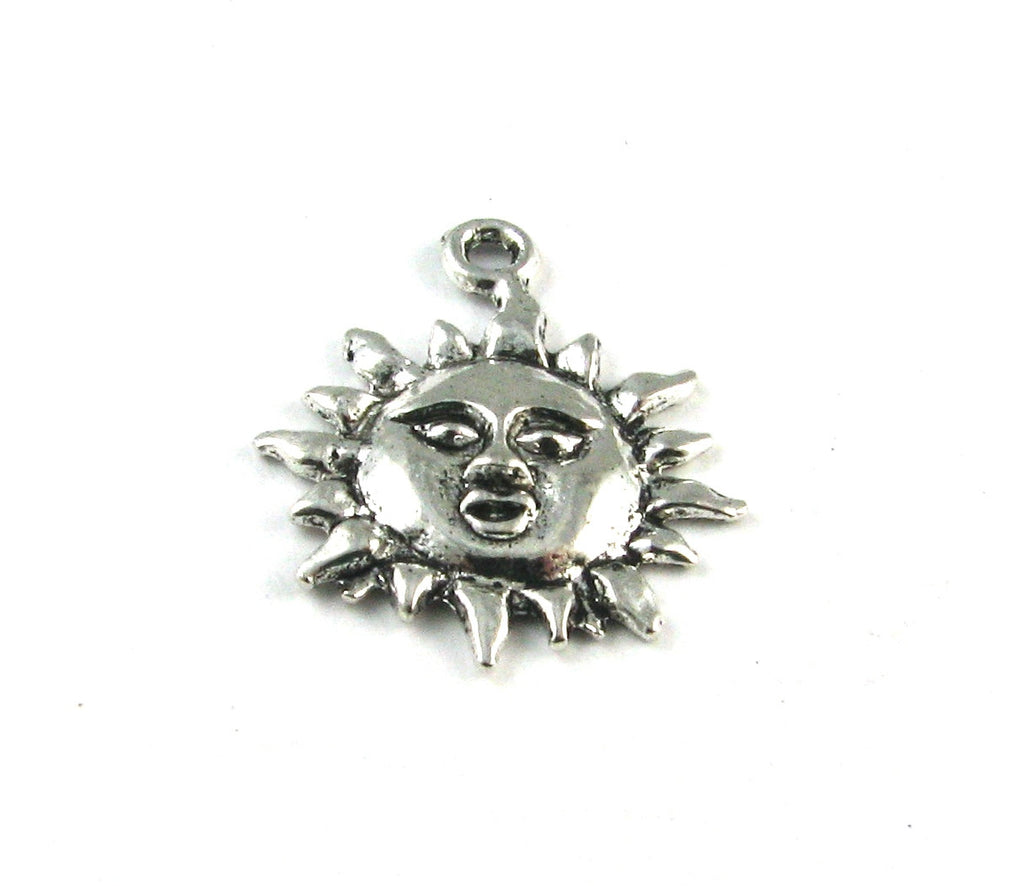 Sun Antique Silver Charm