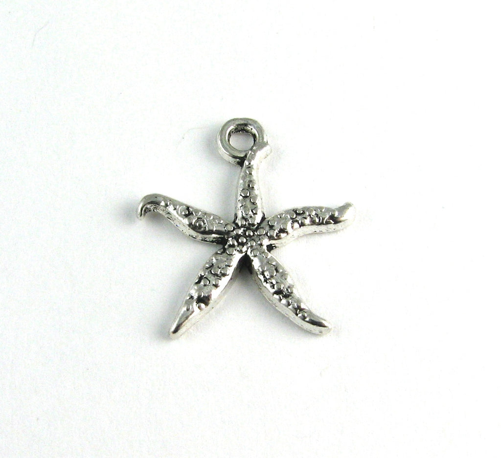Starfish Antique Silver Charm