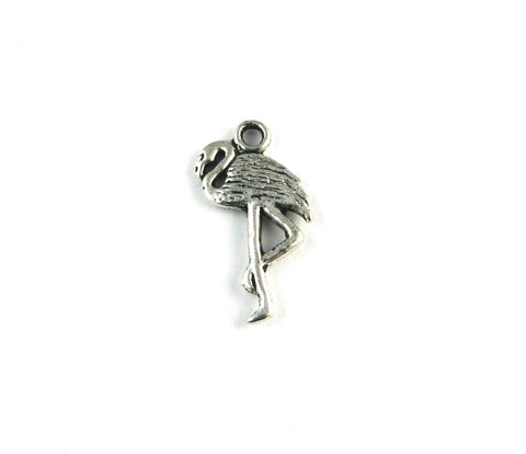 Flamingo Antique Silver Charm