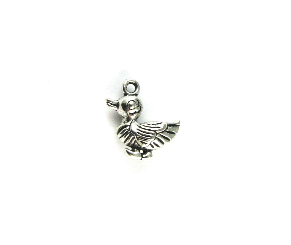 Baby Duck Antique Silver Charm
