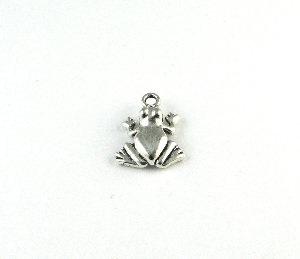 Frog Antique Silver Charm