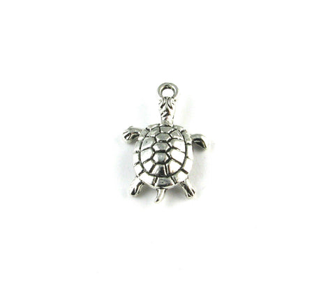Turtle Antique Silver Charm