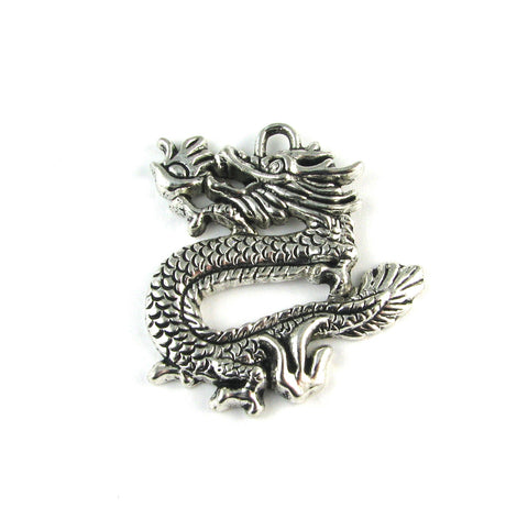 Dragon Antique Silver Charm