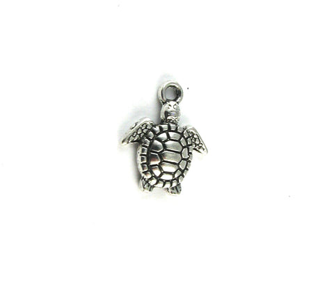 Small Turtle Antique Silver Turtle Charm