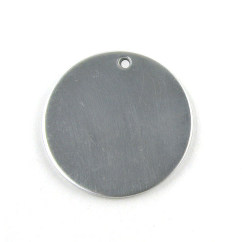 Medium Round Circle Aluminum Blank Pendant (26mm Round)