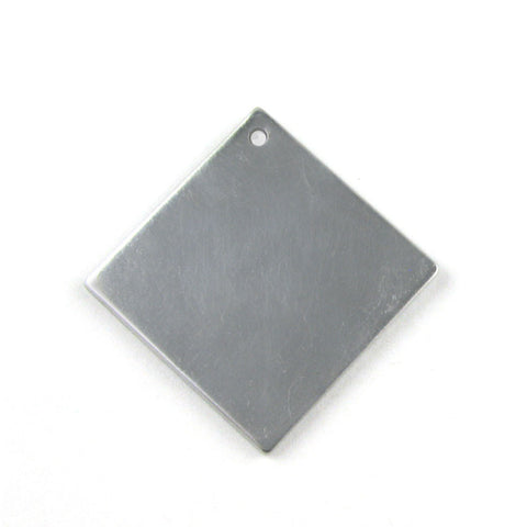 Medium Diamond Square Aluminum Blank Pendant (31mm x 31mm)