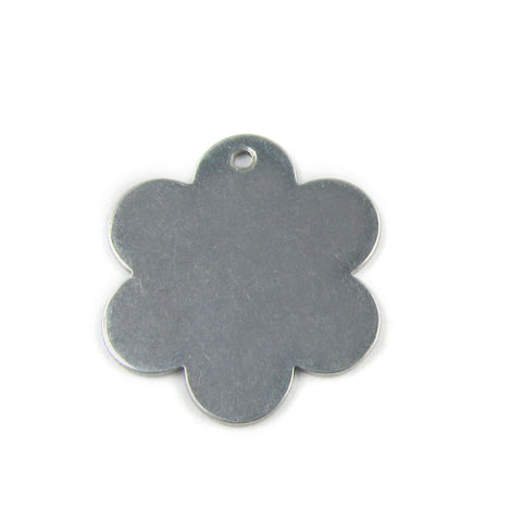 Medium Six Pedal Flower Aluminum Blank Pendant (27mm x 25mm)