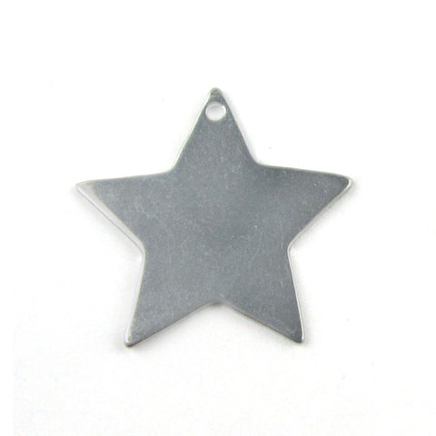 Medium Five Point Star Aluminum Blank Pendant (25mm x 26mm)