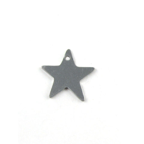 Extra Small Five Point Star Aluminum Blank Pendant (14mm x 15mm)