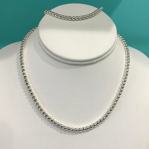 silver beat chain necklace