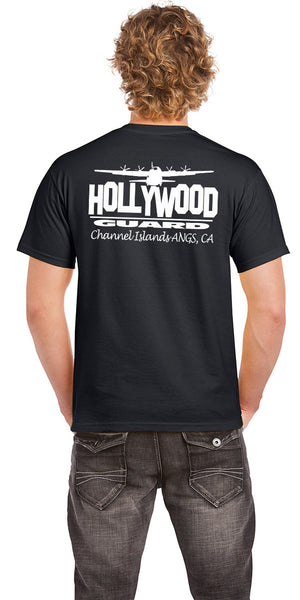 146th AW Hollywood Guard C-130  - Mens T-shirt Black- Limited Edition