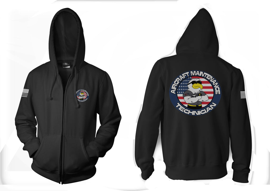 Aircraft Maintenance Technician Sweatshirt Hoodie Zipper