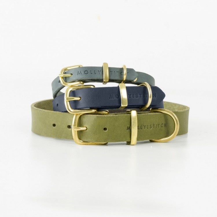 Butter Dog Collar In Navy Blue