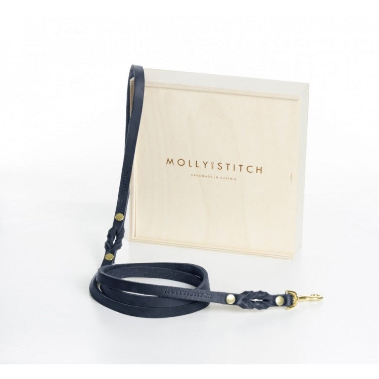 Butter City Dog Lead in Navy