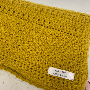 Sherbet Dip - Mustard Knitted Dog Blanket