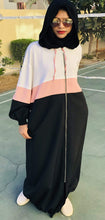 Load image into Gallery viewer, Fashion by shehna Abaya Sporty fashion strips abaya