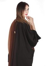 Load image into Gallery viewer, Shehna hussain Abaya Peach - Black Abaya