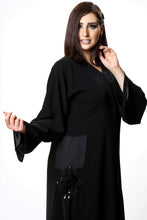 Load image into Gallery viewer, Shehna hussain Black Doddles Abaya