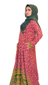 Shehna Hussain Dress A Line Red Green Dress