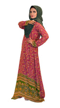 Load image into Gallery viewer, Shehna Hussain Dress A Line Red Green Dress