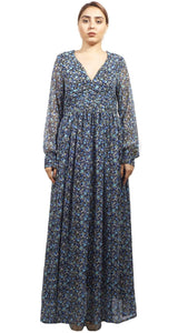 Shehna Hussain Dress Blue Floral Dress