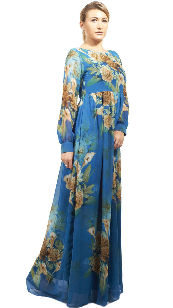 Shehna Hussain Dress Flower Blue Dress