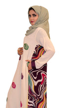 Load image into Gallery viewer, Shehna hussain Dress Off-White Abstract Dress