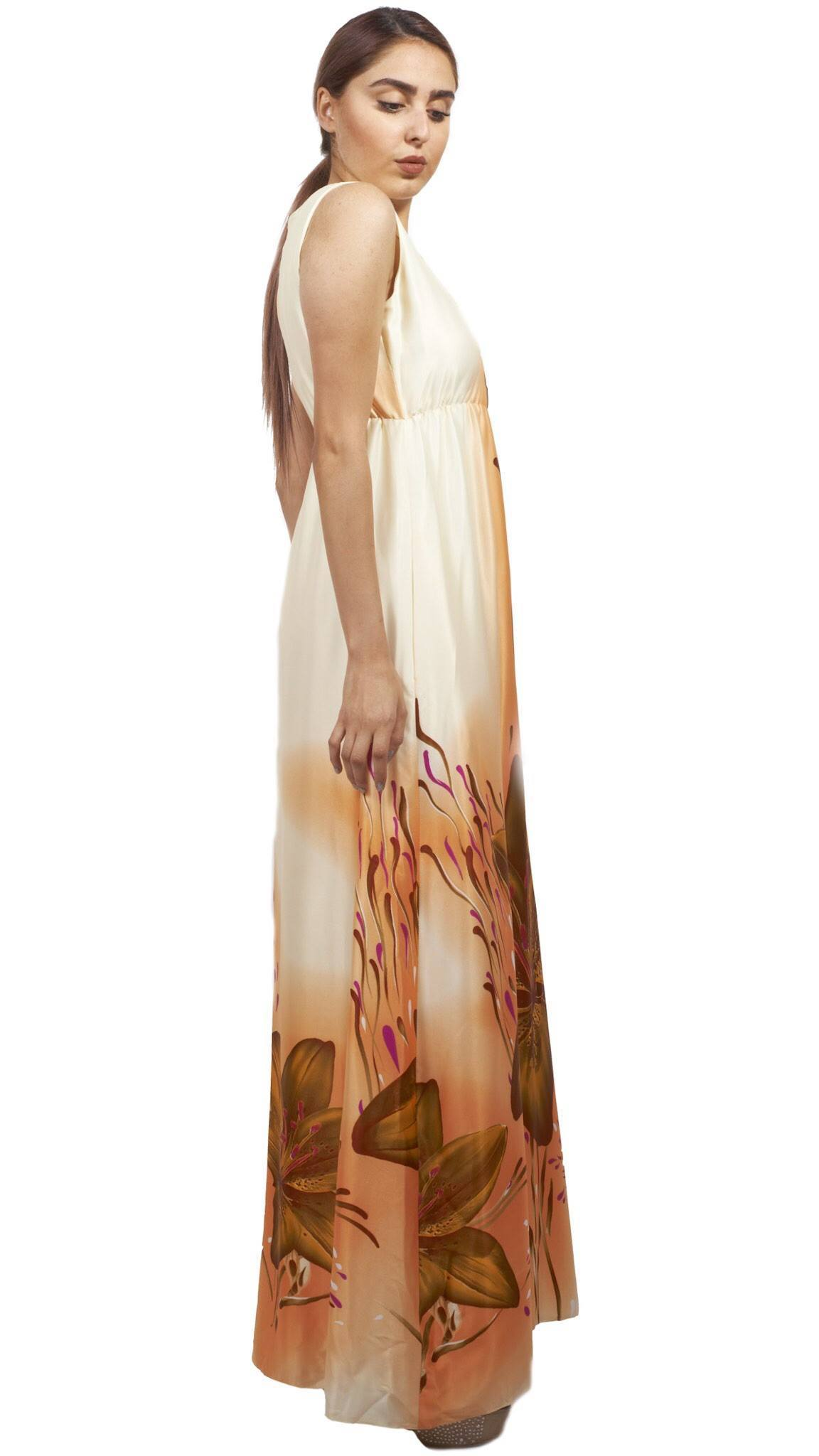 Shehna hussain Dress Peach Flower Dress