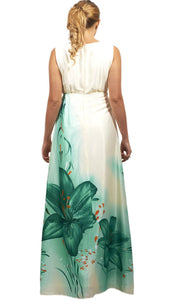 Shehna hussain Dress Silhouette Teal Maxi Dress