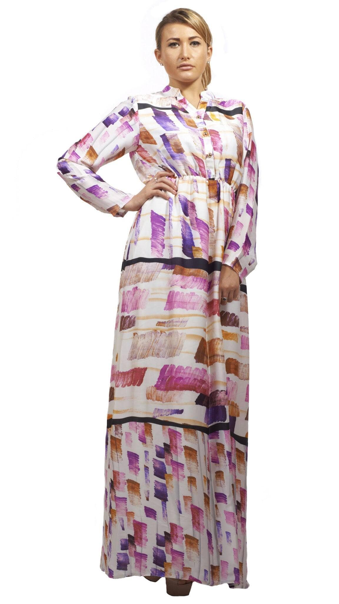 Shehna hussain Dress White Chalk Print Dress