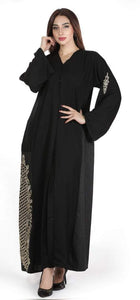 Shehna hussain Golden fall Abaya