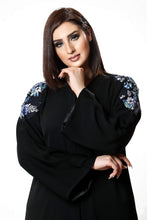 Load image into Gallery viewer, Shehna hussain Rustic Blue Flower Abaya