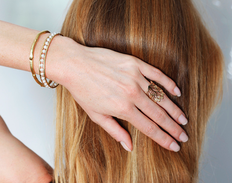 everyday ring gold bangle how we wear it signature ring