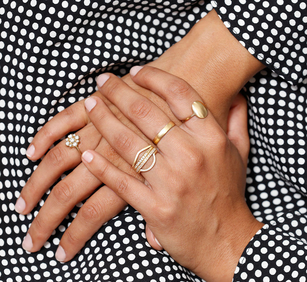 bridal gold stacking rings