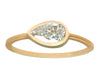 0.75ct Pear Brilliant-cut White Diamond & Yellow Gold Bezel Ring