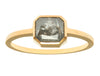 1.41ct Cushion Grey Diamond & Yellow Gold Bezel Ring