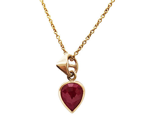 Rose Cut Ruby Thorn Necklace