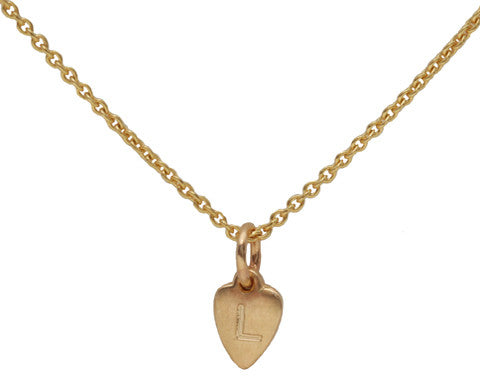 Dainty Heart Gold Necklace