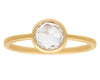 1ct Round Rose-cut White Diamond Gold Ring