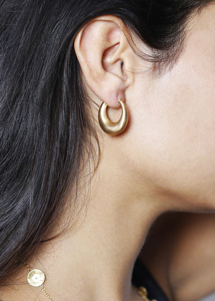 18K Gold Large Ruchi Hoops