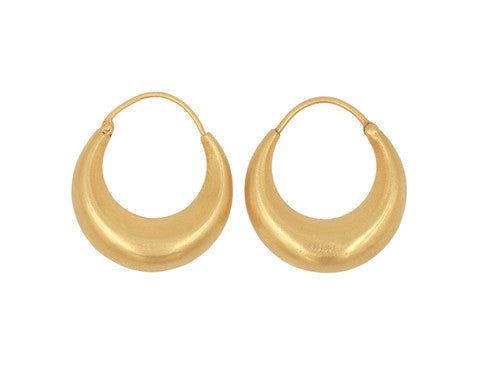 18-Karat Gold Large Ruchi Hoops