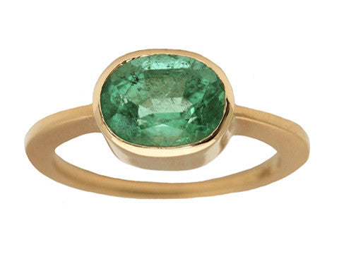 2.20 Carat Oval Emerald Ring