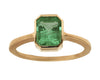 1.36ct Cushion Emerald & Yellow Gold Bezel Ring