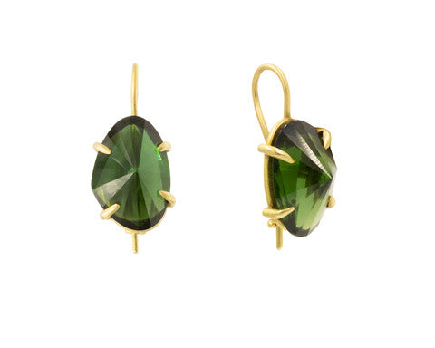 18-Karat Yellow Gold Tourmaline Drop Earrings