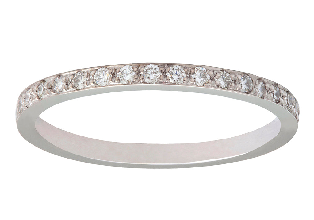 I am Love Diamond & White Gold Eternity Band