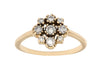 Grey Diamond Marie Cluster Ring