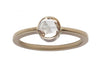 0.50ct Round Rose-cut White Diamond & White Gold Bezel Ring
