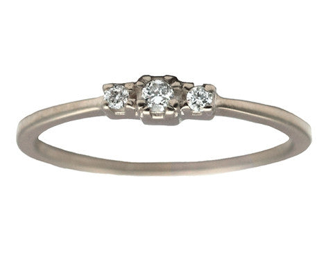 Triplet White Diamond Ring